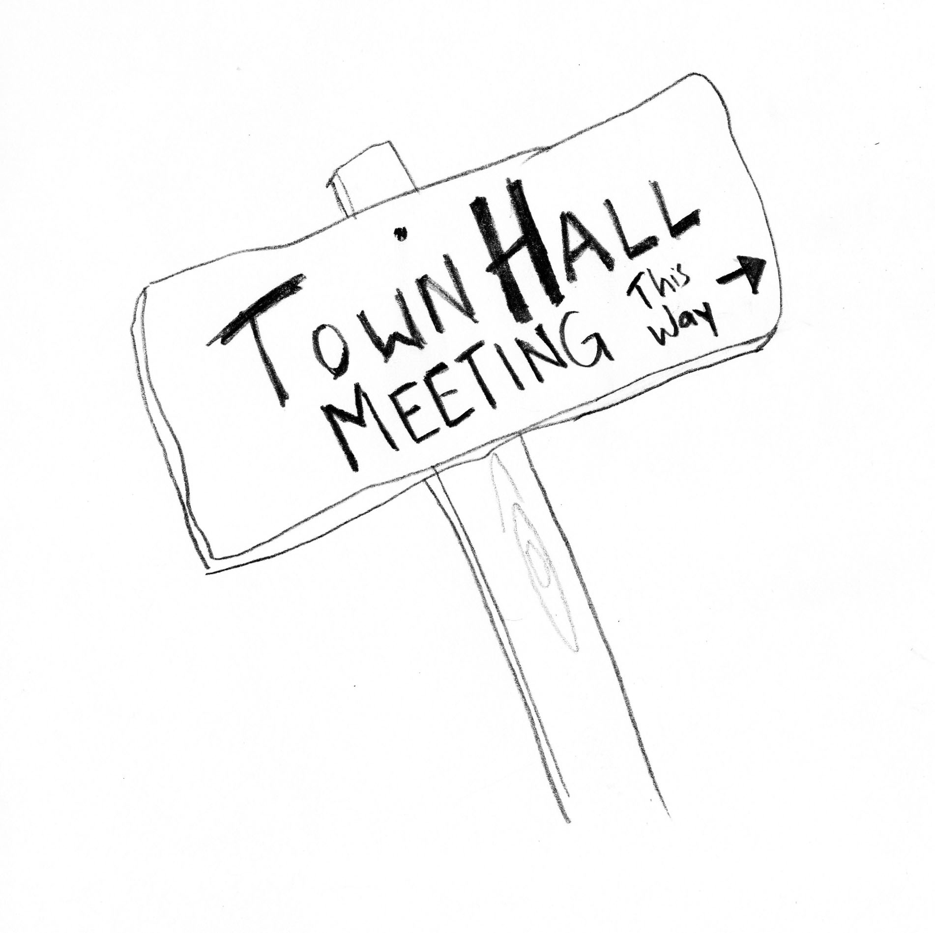 town hall, this way